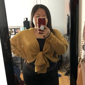 Fashion Nova Sweaters - Knot Front Cropped Sweater